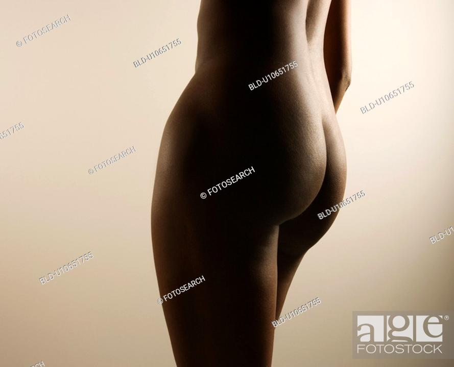 Stock Photo: Nude mid adult woman's body.