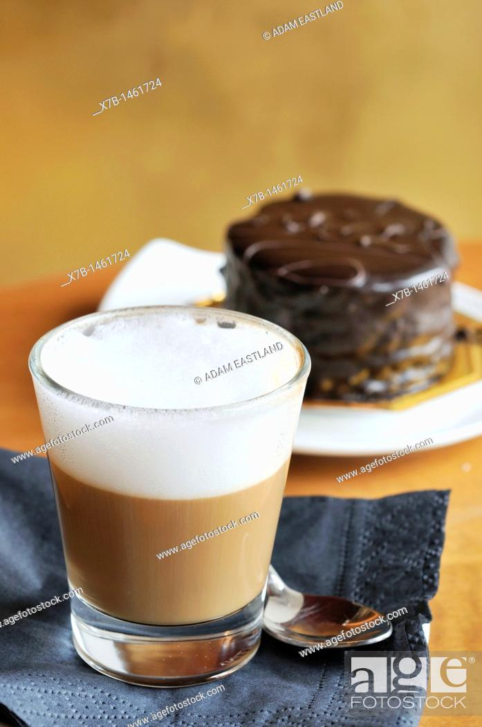 Stock Photo: Trieste  Italy  Cappuccino in glass, locally known as a Capo' in b.