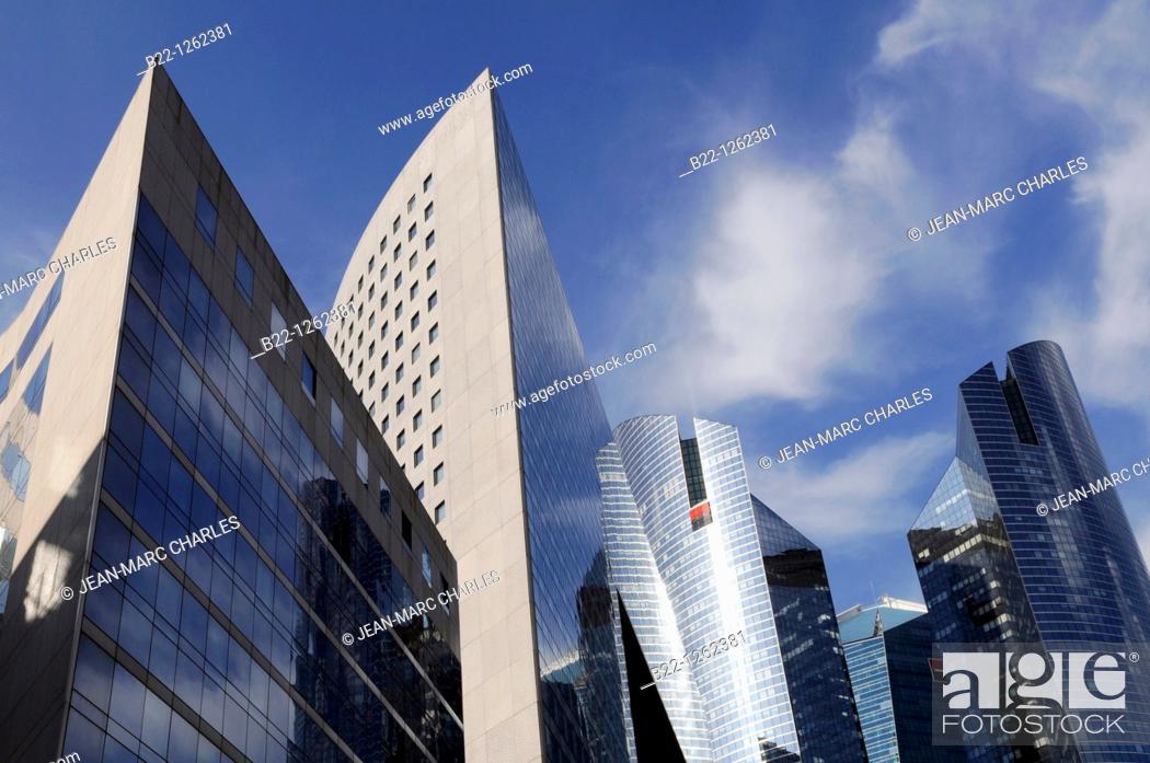 Stock Photo: Buildings of the business sector Paris La Défense, Paris, France.