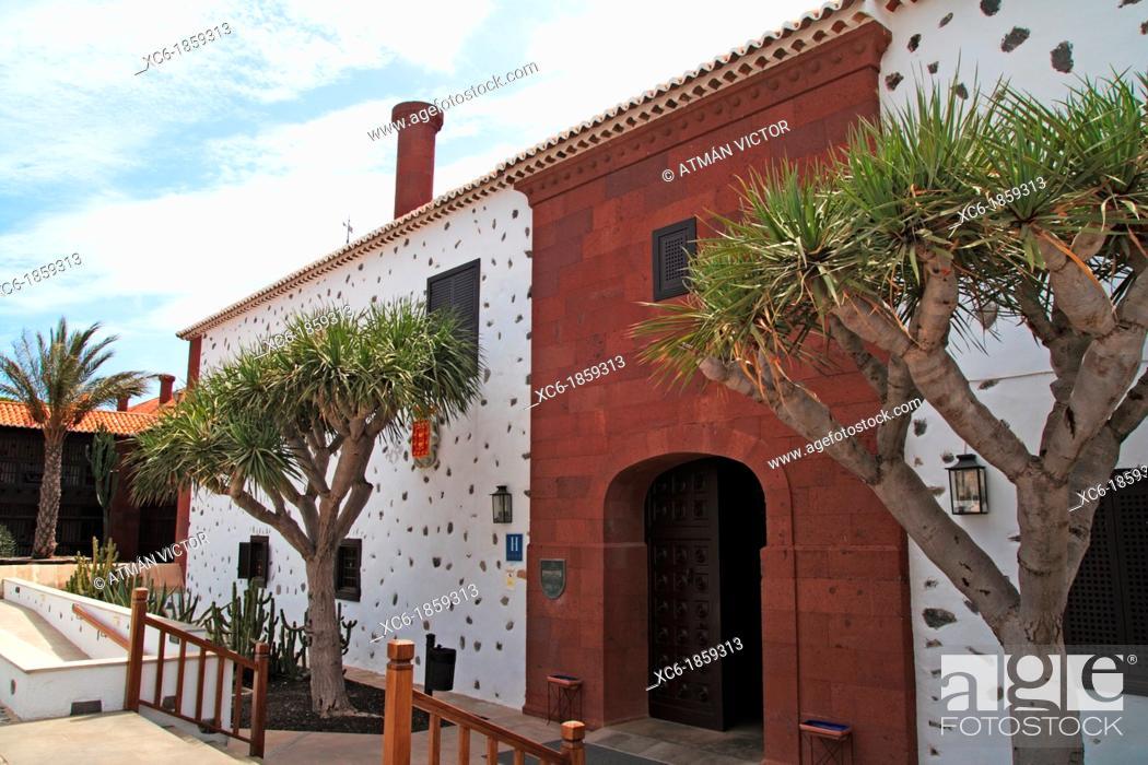 Stock Photo: Parador hotel in La Gomera island Spain.