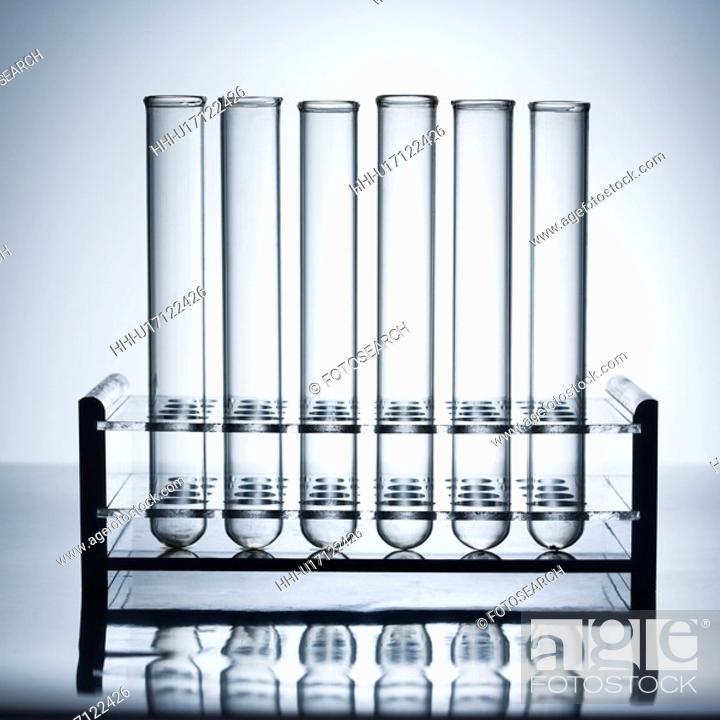 Stock Photo: Glass test tubes.
