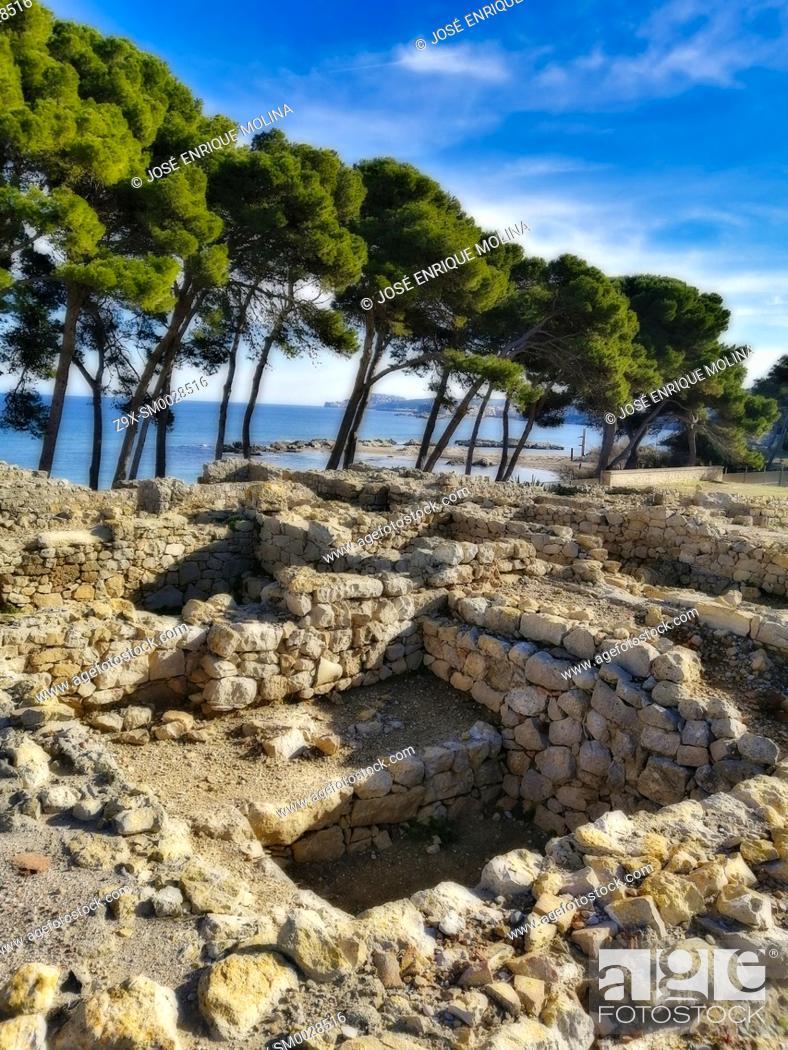 Stock Photo: Ampurias archaeological zone, Girona, Spain, Europe.
