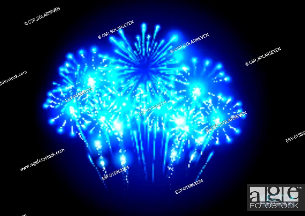 Stock Vector: Large Fireworks Display.