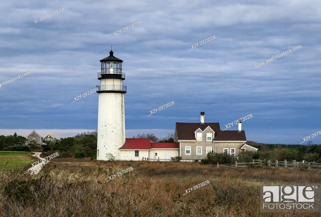 Stock Photo: Highland lighthouse, Truro Cape Cod, Massachusetts, USA.