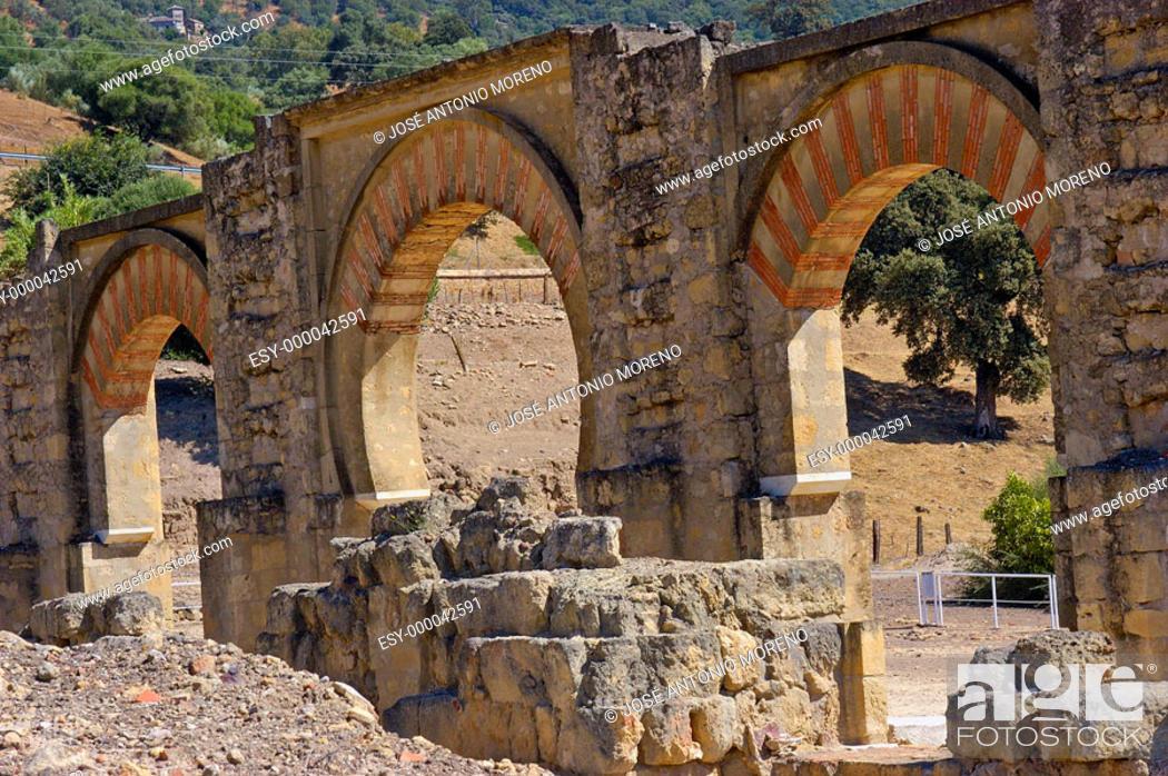 Stock Photo: Ruins of Medina Azahara, palace built by caliph Abd al-Rahman III. Córdoba province. Andalusia, Spain.