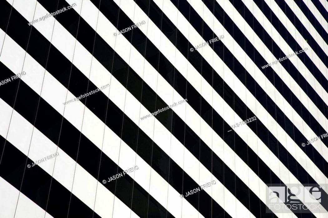 Stock Photo: Argentina, Buenos Aires Province, Buenos Aires  Abstract view of a skyscraper in the financial district of the microcentro of Buenos Aires.