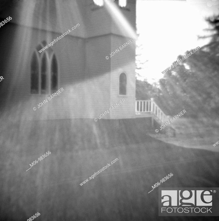 Stock Photo: Abstract View of Small Country Church.