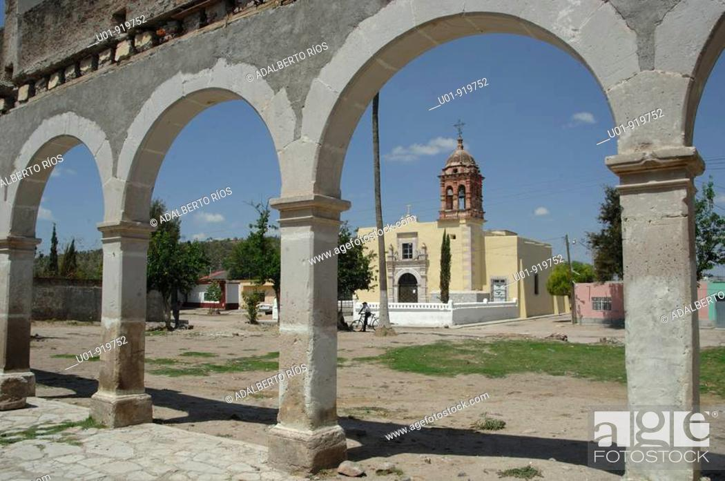 Stock Photo: Hacienda de San Diego de Navacoyán. Durango State. Mexico.