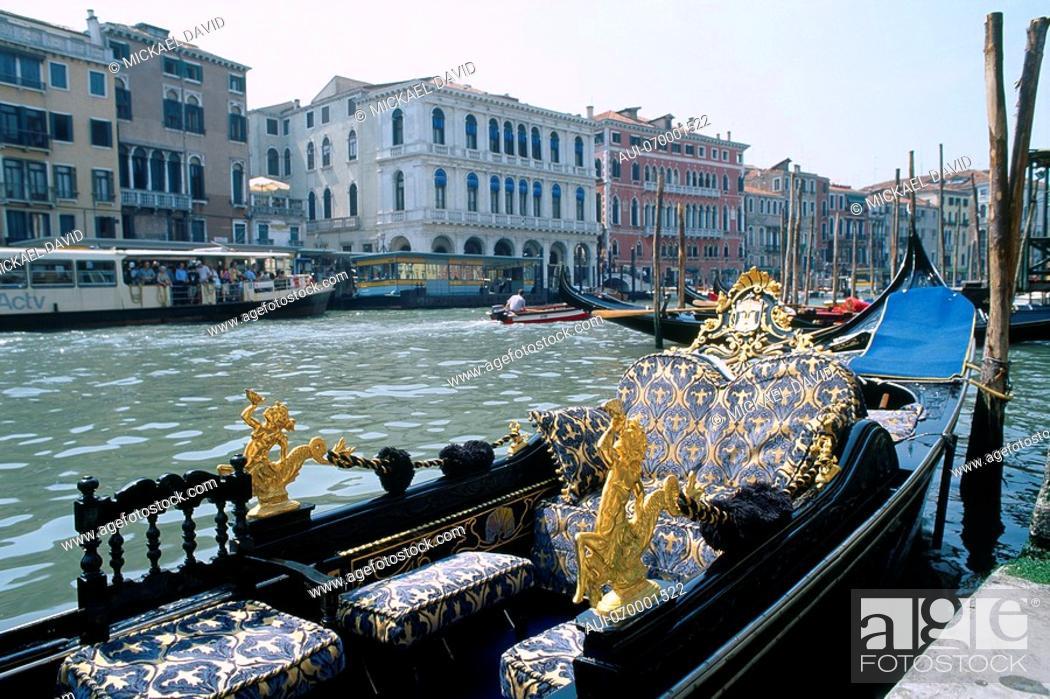 Stock Photo: Italy - Venice - authentic Venetian gondola.