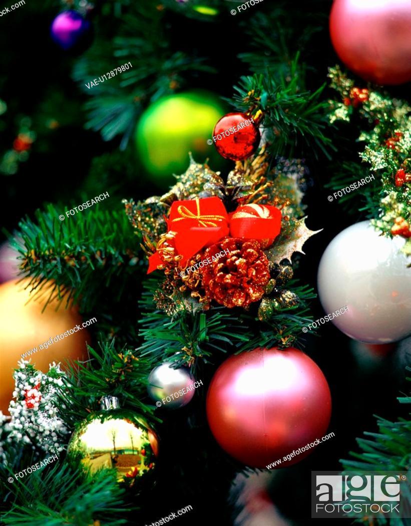 Stock Photo: seasons, christmas, x-mas, decoration, tree, film.