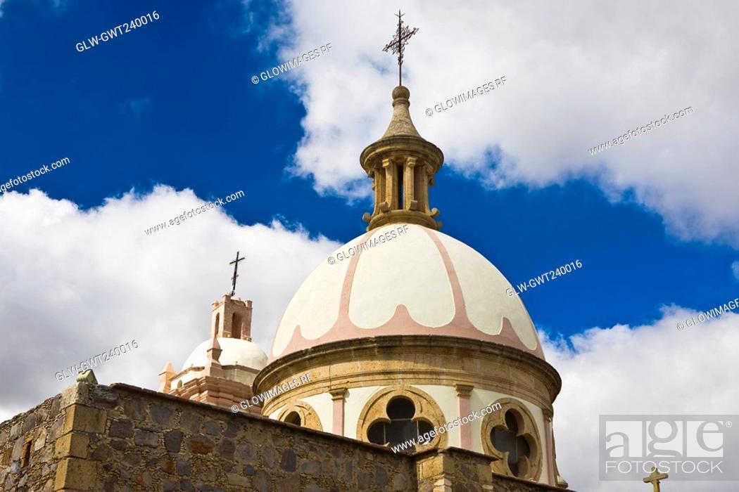Stock Photo: Low angle view of a church, Iglesia De Nuestra Senora De Belen, Real De Asientos, Aguascalientes, Mexico.