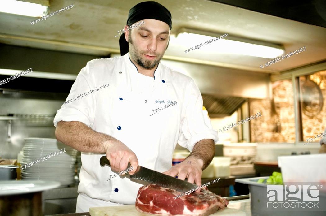 Stock Photo: A cooker in the kitchen. Santiago de Compostela, Galicia. Spain.