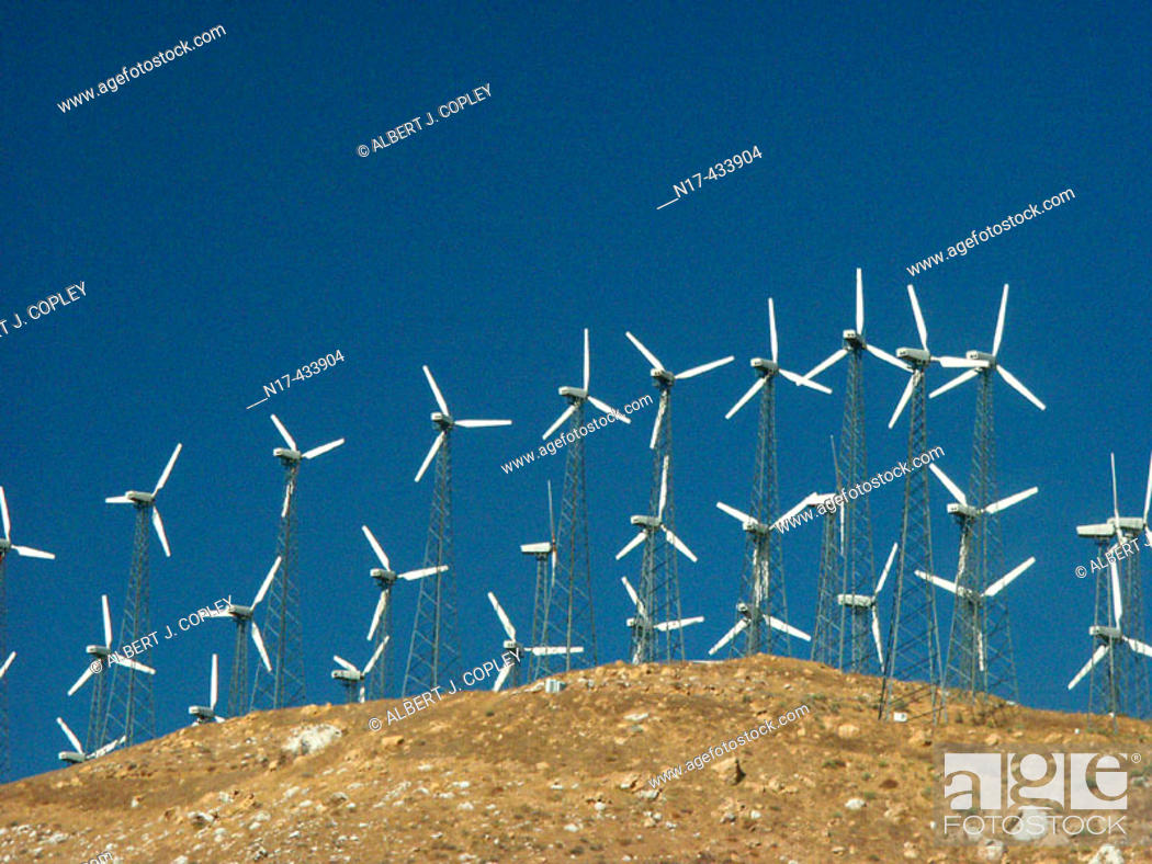Stock Photo: Wind generators.