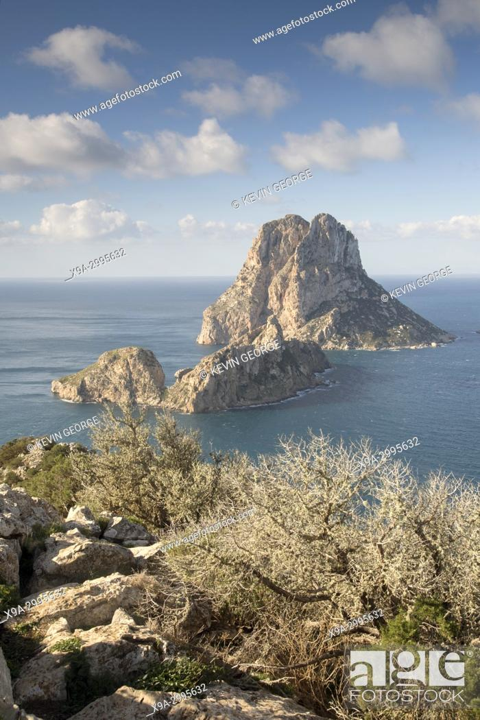 Stock Photo: Vedra Island in Ibiza; Spain.