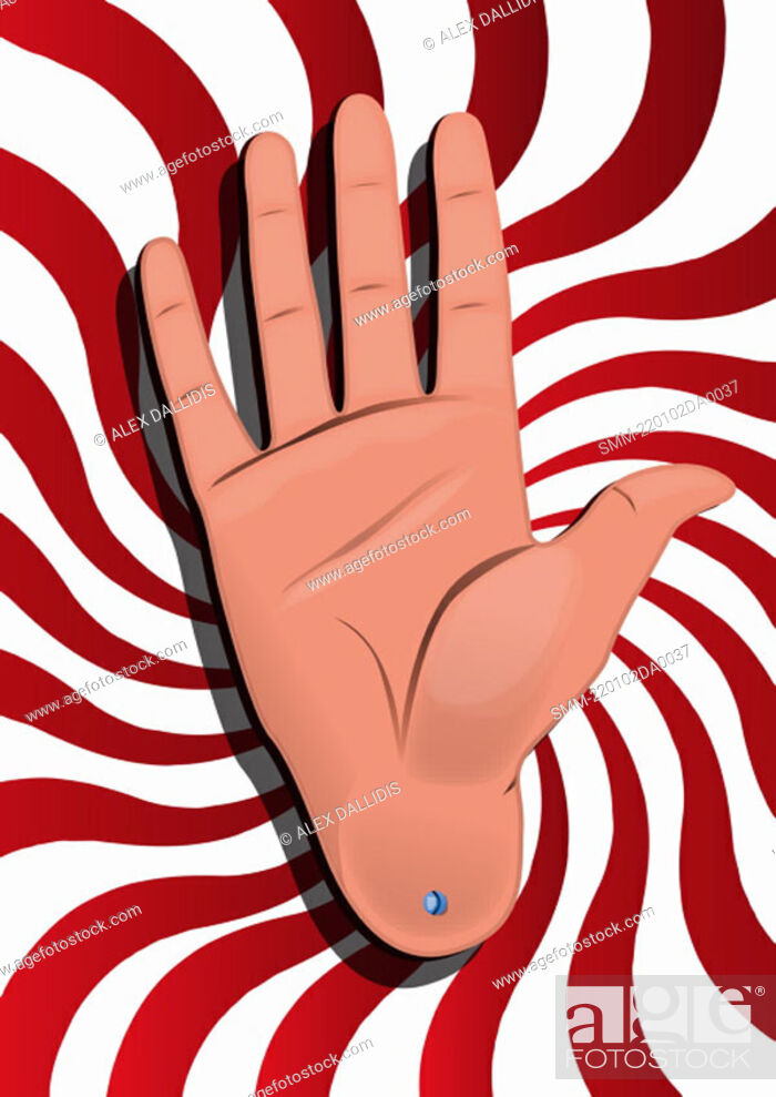 Stock Photo: Hand sign 'number 5'.