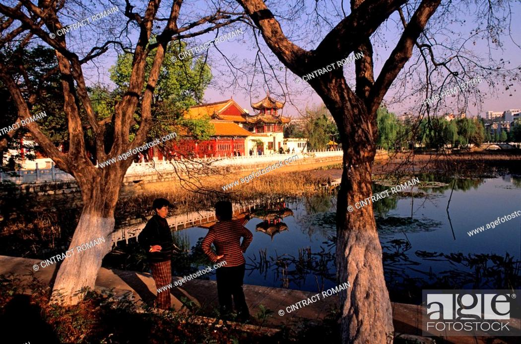 Stock Photo: China, Yunnan province, Kunming, capital of the province, the park of the green lake.