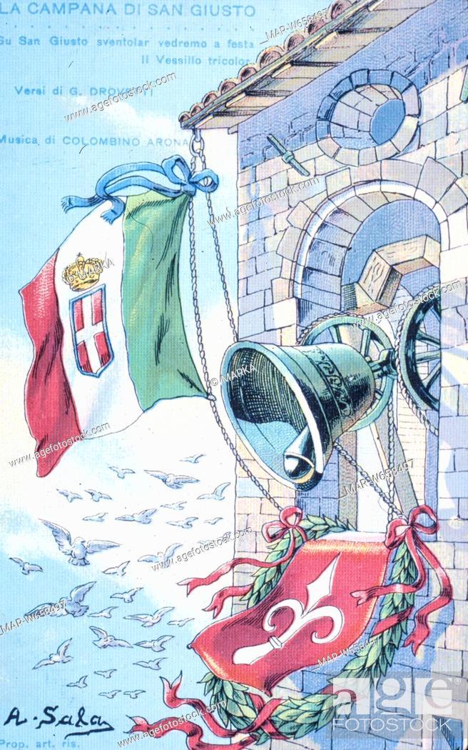 Le Campane Di San Giusto.La Campana Di San Giusto 1915 Stock Photo Picture And