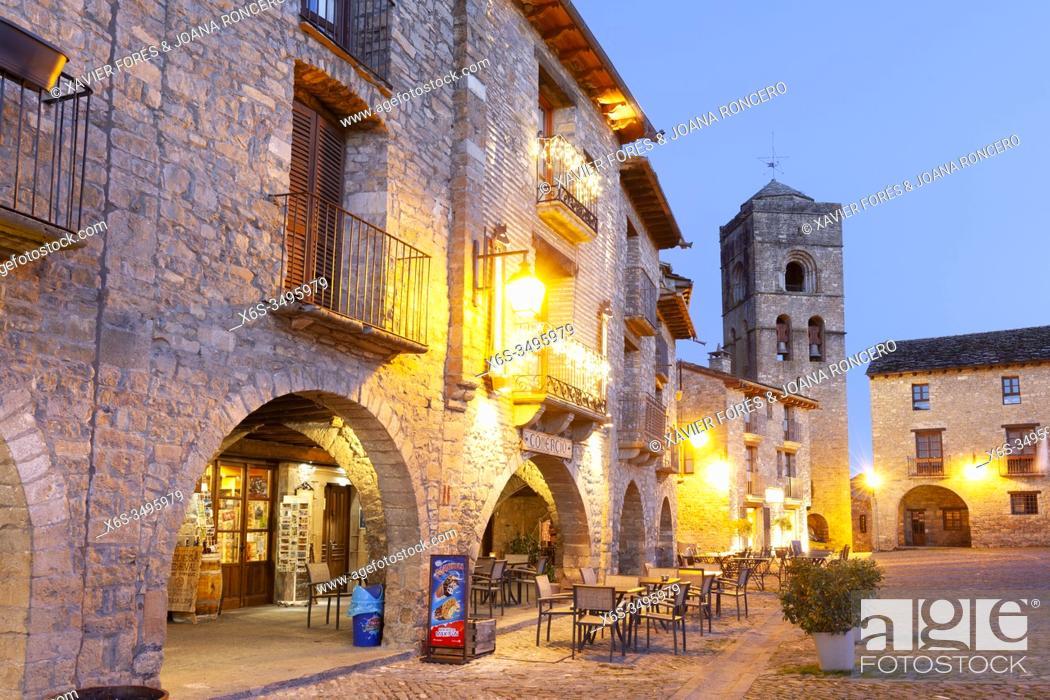 Stock Photo: Ainsa village, Huesca, Spain.
