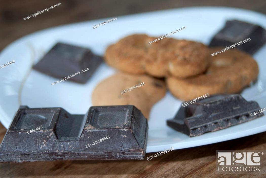 Stock Photo: plain chocolate for an Italian breakfast.