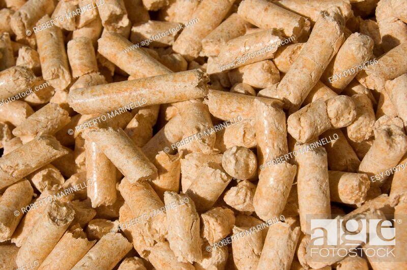 Stock Photo: wood pellets texture.