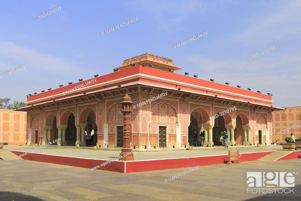 Stock Photo: Diwan-I-Khasl, City Palace, Jaipur, Rajasthan, India.