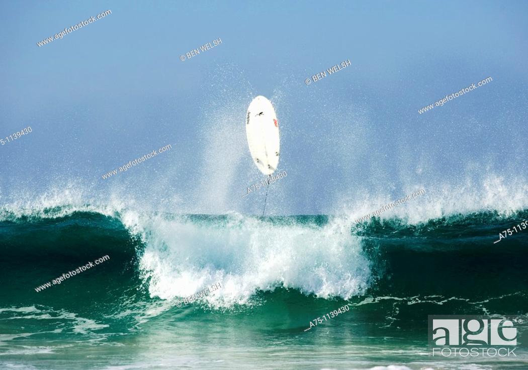 Stock Photo: Surfing, Tarifa, Costa de la Luz, Cadiz province, Andalusia, Spain.