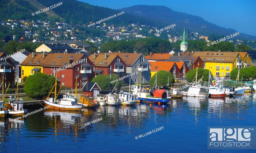 Stock Photo: Fishing Boats moored in Oslo, Norway.