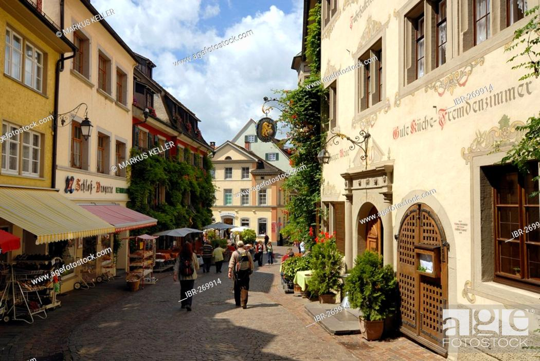 Stock Photo: Old part of town, Meersburg, Baden Wuerttemberg, Germany, Europe.