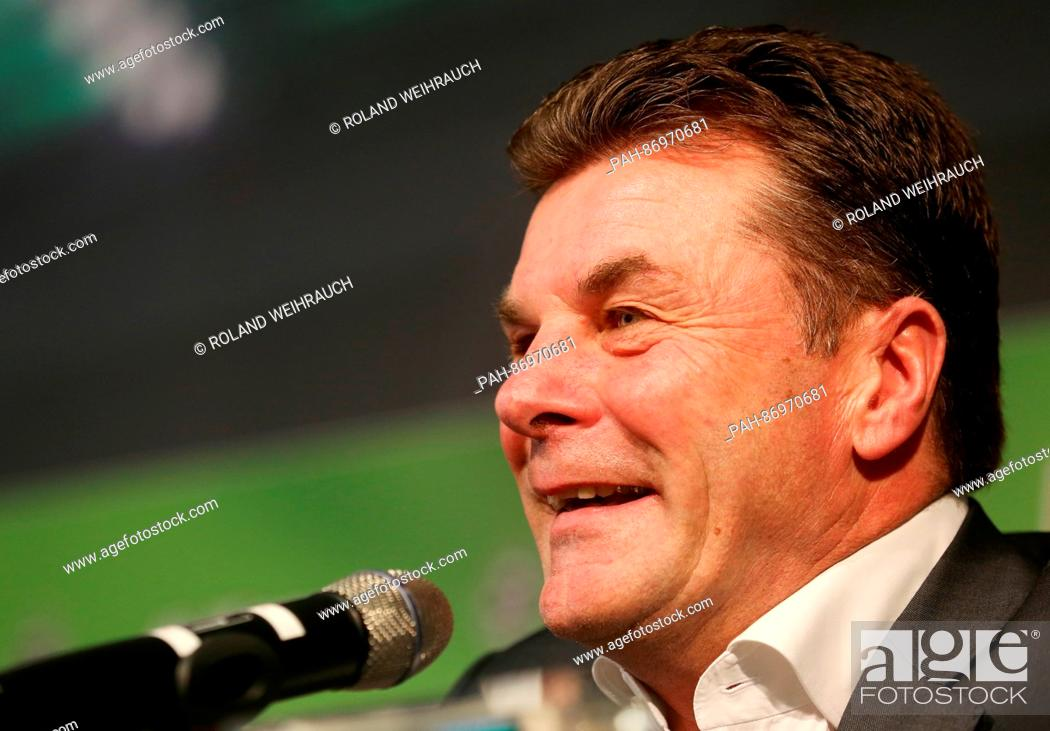 Imagen: Borussia Moenchengladbach's new coach Dieter Hecking pictured during a press conference in Moenchengladbach, Germany, 4 January 2017.