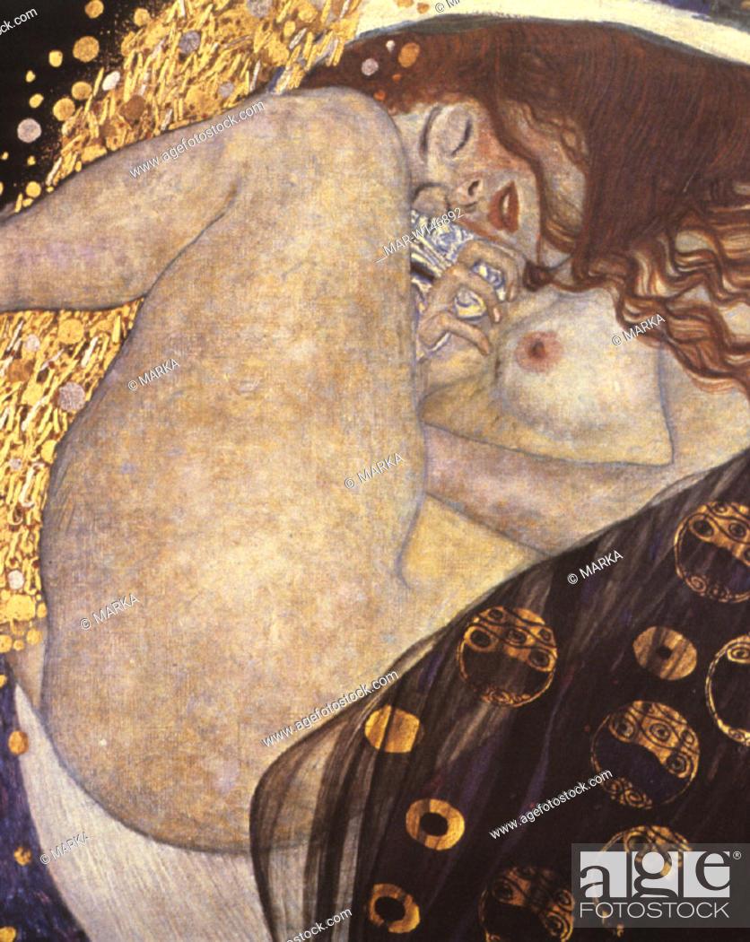Stock Photo: gustav klimt painting, danae.