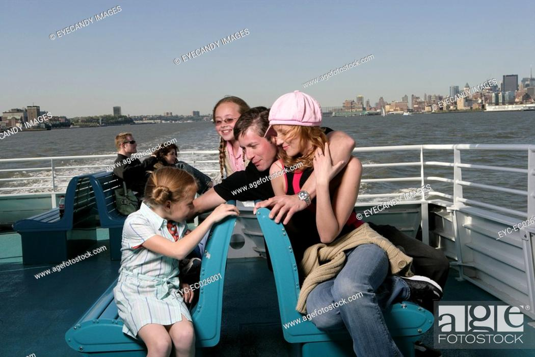 Stock Photo: Young family of four.