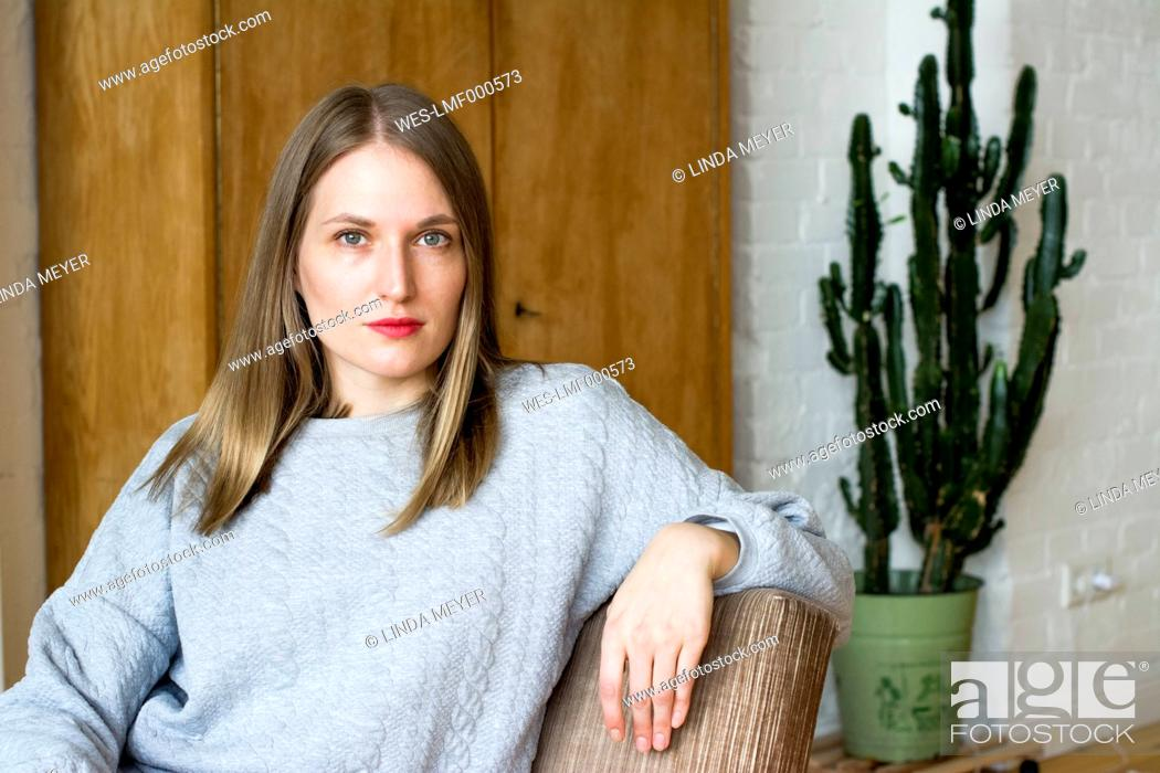 Stock Photo: Portrait of serious woman.