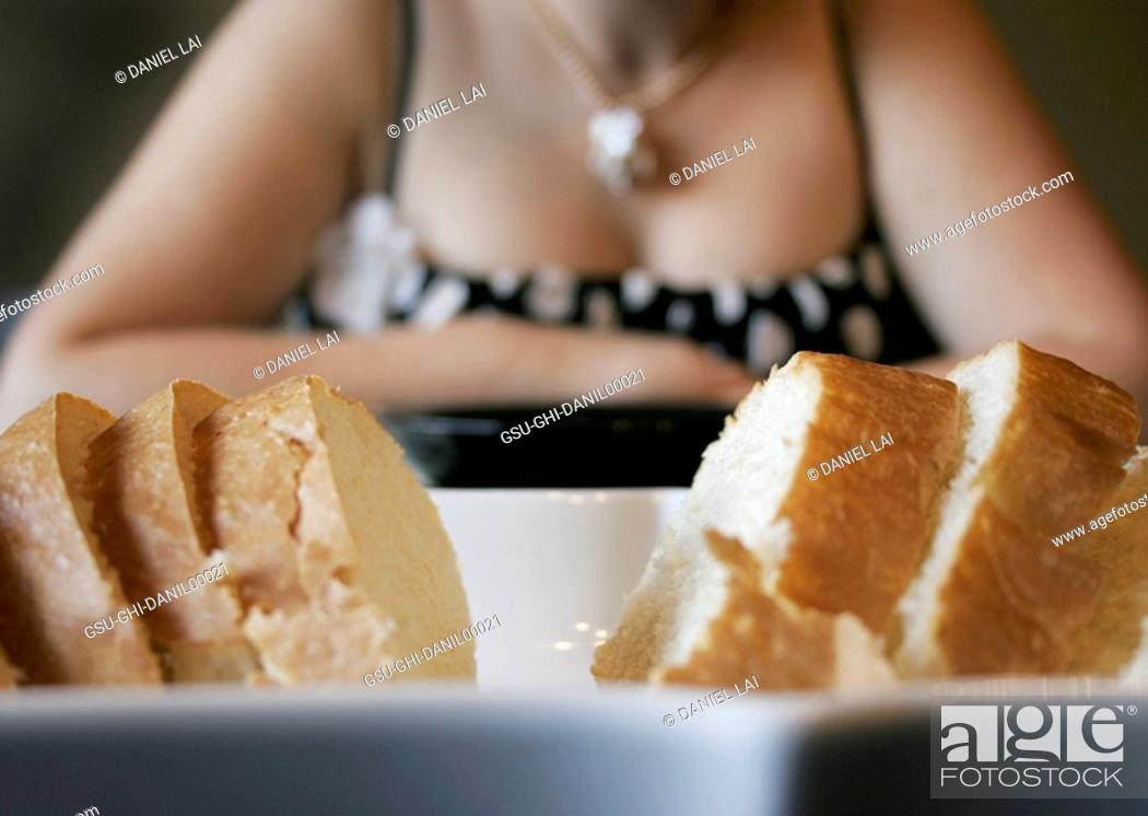 Stock Photo: Soft Focus Woman with Bread.
