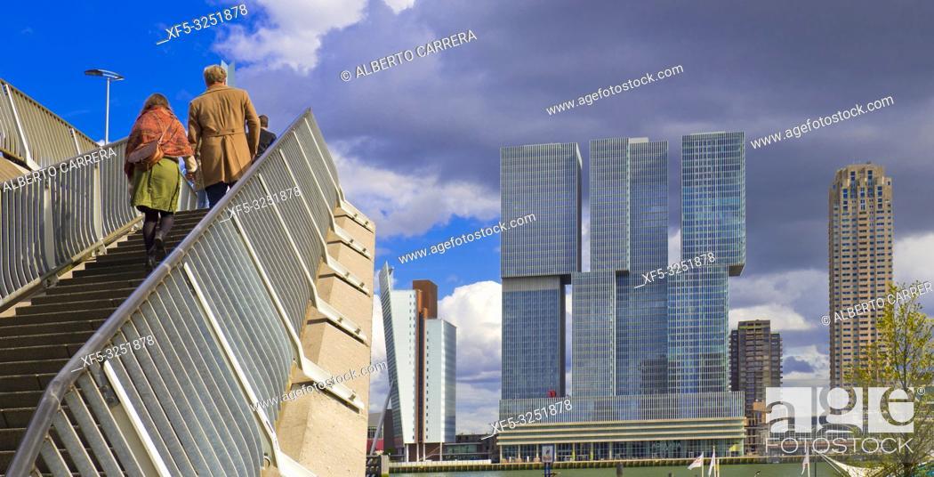Stock Photo: Modern Architecture, Rotterdam, Holland, Netherlands, Europe.