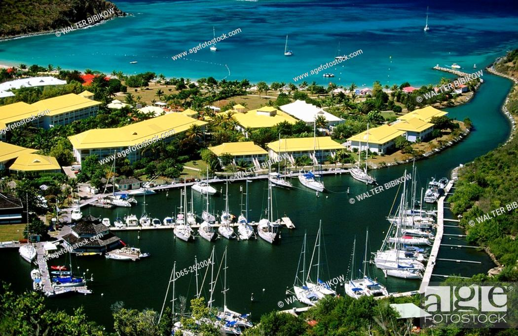 le meridien hotel in anse marcel st martin west indies stock photo picture and