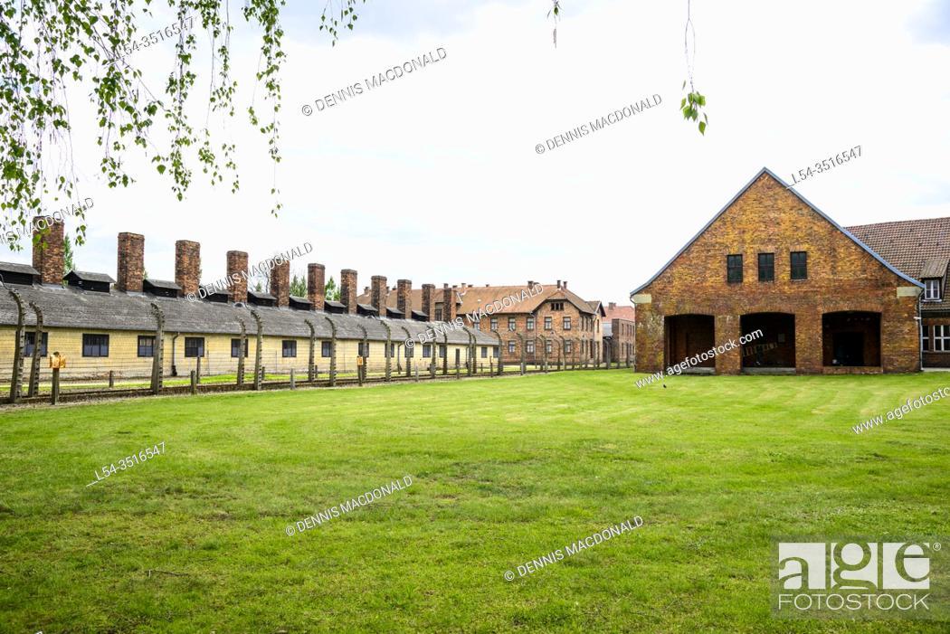 Stock Photo: Auschwitz Birkenau Concentration Camp OŠ›wiÄ. cim Museum Southern Poland Europe EU UNESCO.