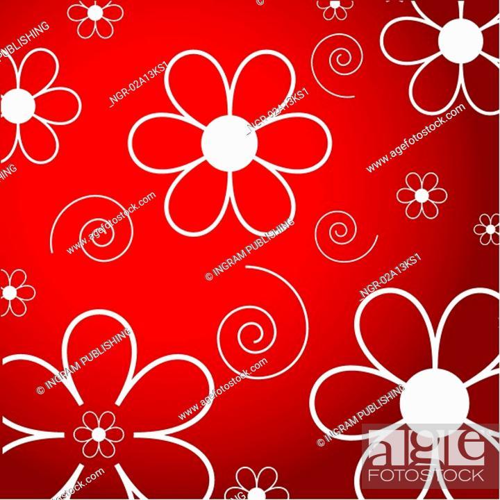 Stock Photo: flowers and swirls.
