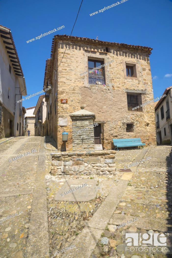 Stock Photo: El Canton Square. Yanguas, Soria province, Castilla Leon, Spain.