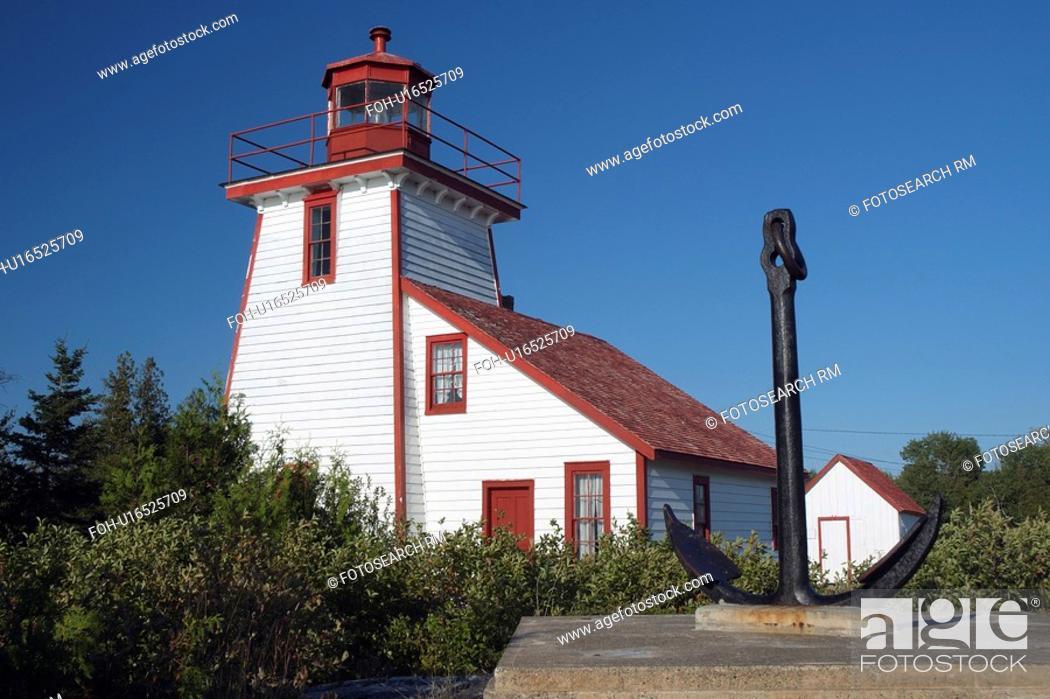 Stock Photo: lighthouse manitoulin anchor island ontario.