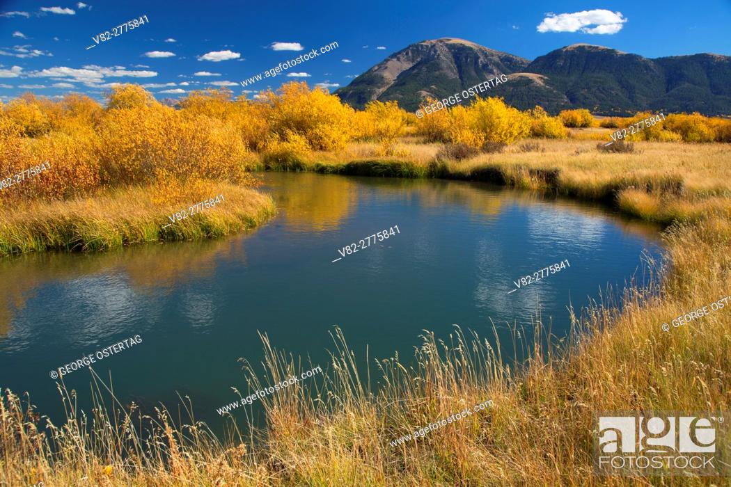 Stock Photo: Odell Creek along Sparrow Ponds Trail to Sheep Mountain, Red Rock Lakes National Wildlife Refuge, Montana.