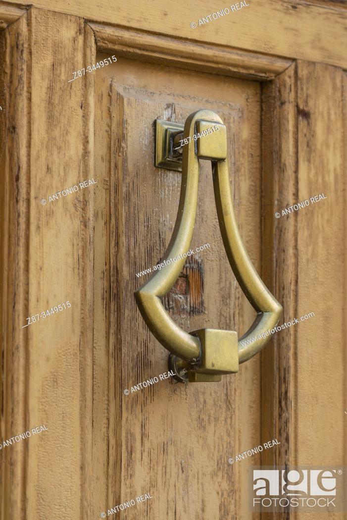 Photo de stock: Door knocker. Almansa, Albacete Province, Spain.
