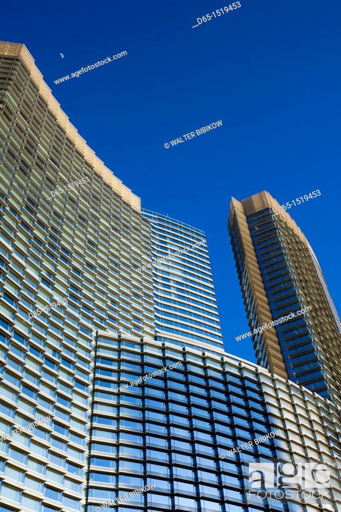 Stock Photo: USA, Nevada, Las Vegas, CityCenter Complex, Aria Hotel, detail.