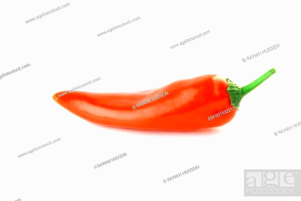 Stock Photo: red hot chili.