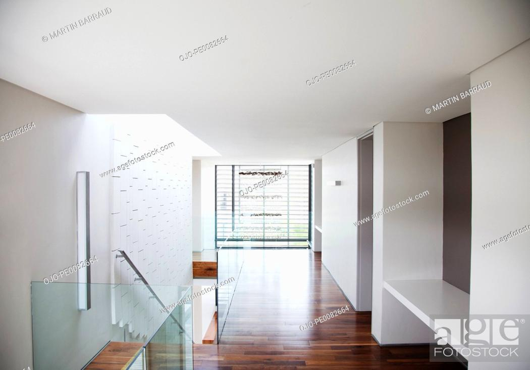 Stock Photo: Corridor in modern house.