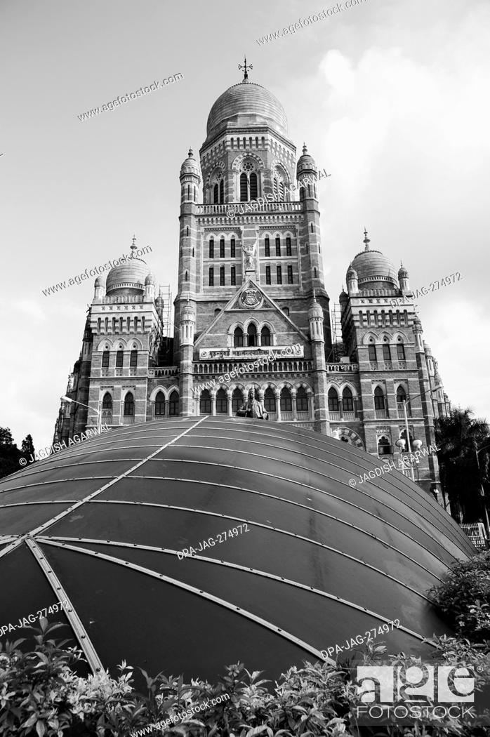 Imagen: VT subway top, Bombay Municipal Corporation Building, Mumbai, Maharashtra, India, Asia.
