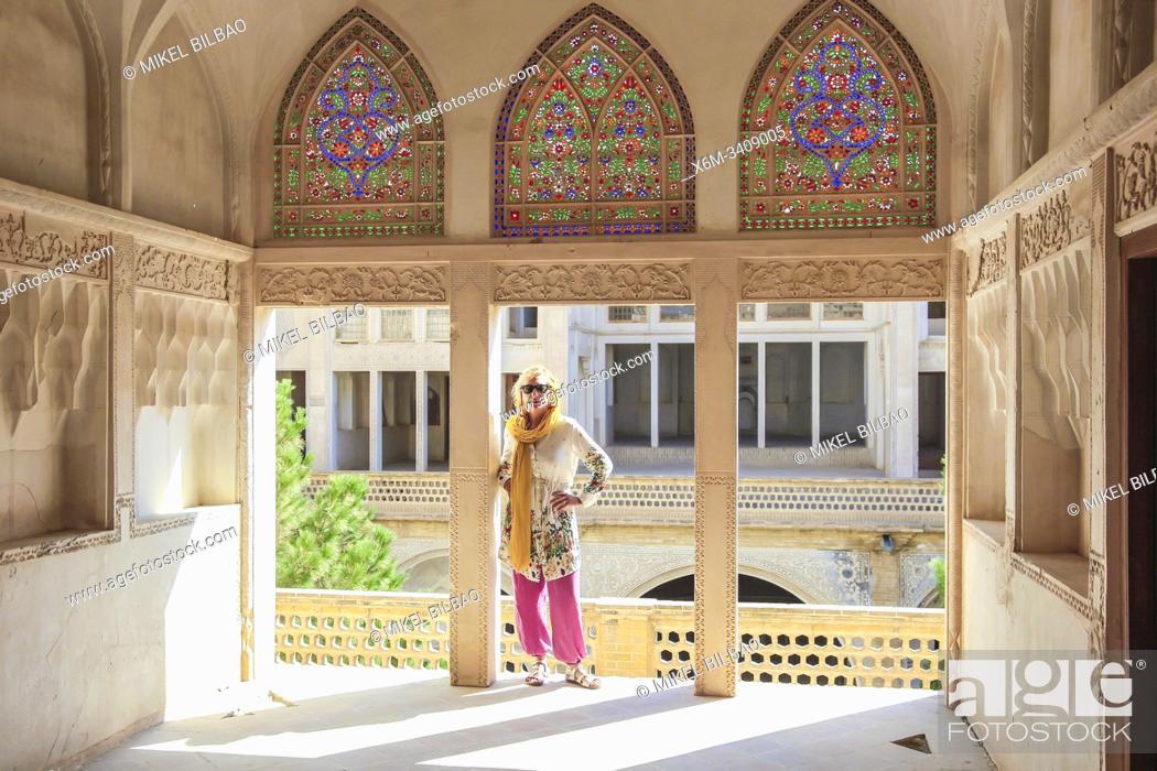 Imagen: Abbasian Historical House (Khan-e Abbasian). Kashan, Iran. Asia.
