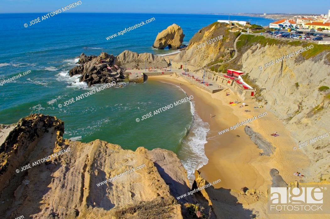 Stock Photo: Santacruz, Praia formosa, Torres Vedras, Portugal, Europe.