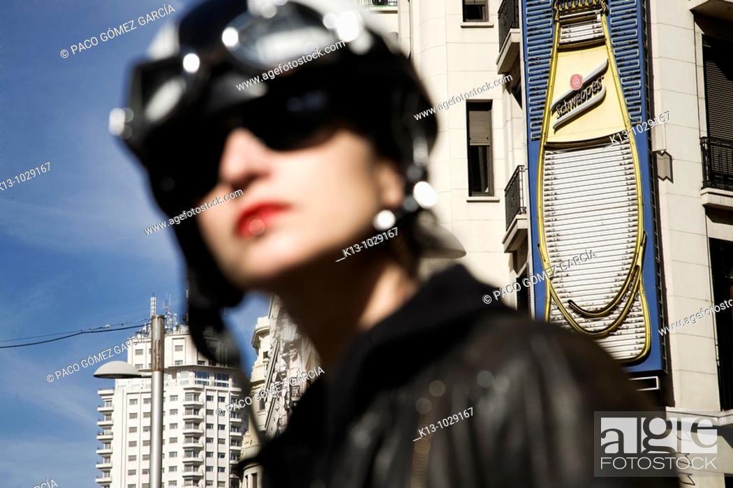 Stock Photo: Gran Via, Madrid, Spain.