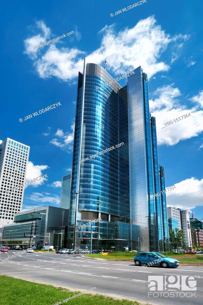 Stock Photo: Warsaw, modern architecture, Poland, Europe.