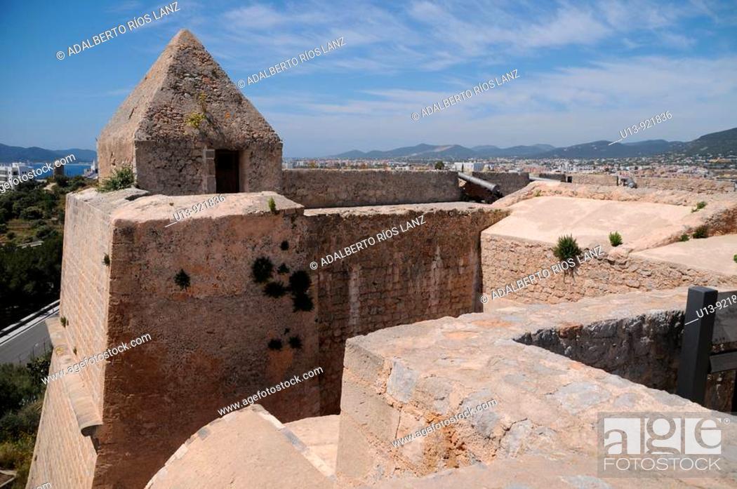 Stock Photo: Walls, Ibiza, Balearic Islands, Spain.
